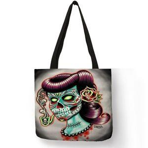 Women's Tote Bride of Frankenstein Muerta w/ Pipe